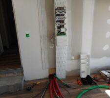 Mise en place de la gaine technique de logement + Pose du compteur EDF + Mise en route de l'électricité