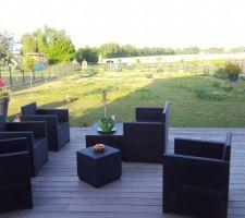 Le coin salon terrasse