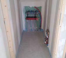 depart eau chaude eau froide etage avec depart pc etage