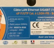 cable ethernet categorie 6 acome