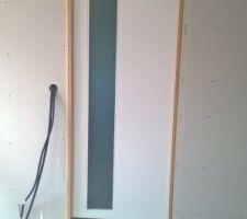 Porte à galandage Salle de bain Posé