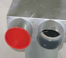 Bouche d'aération : alimentation 1 ou 2 conduits de 75 mm