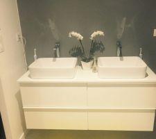 Meuble salle d'eau suite parentale. Manque plus que le miroir