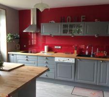 La cuisine de notre maison de campagne qu'on a réaménagé