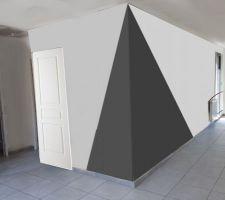 idee peinture gris clair gris anthracite et blanc