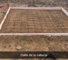 Création de dalle pour abris de jardin