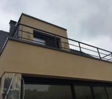 Installation du garde corps sur terrasse R+1