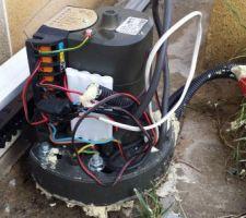Branchement du réseau électrique au moteur