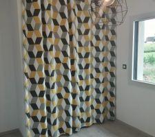 Rideau castorama Bernau 3D jaune 140 x 240 cm