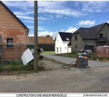 Vue 3D de l'implantation de notre futur maison