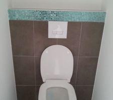 Mosaïques des wc suspendus rez de chaussée.