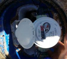 Aujourd'hui suez est venu posé le compteur d'eau,une étape de plus!!!