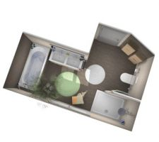 Visuel 3d de la salle de bain