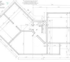 Plan des murs porteurs/cave
