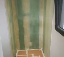 Préparation douche du bas pour Faïencage futur