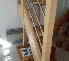 Escalier prévu, avec contremarche en plus