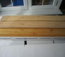 Bambou - ORIGINEL HORIZONTAL MILKY - Ep.15 x l.96 x L.960 mm, teinté blanc contrasté puis huilé, chanfreinées des 4 côtés.
