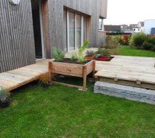 Terrasse - aménagements en cours