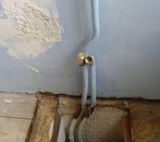 Ancienne alimentation radiateur à bouchonner.