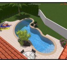 Croquis de la piscine