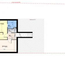 R-3 : Etage des parents avec suite parentale et salle de jeux / cinéma