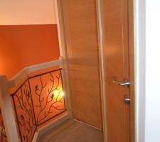 Portes Reivilo à l'étage (toilettes et salle d'eau)