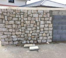 Pose de parement pierre