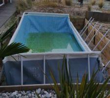 Jour 1 : Démontage de la piscine hors sol.