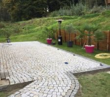 Terrasse en pavés Granit