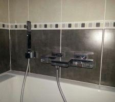 Robinetterie baignoire encastrée