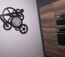 Horloge Engrenages Maisons du Monde installée !