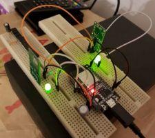 Banc de test des détecteurs de mouvement à micro-ondes