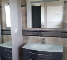 Et voici enfin la salle de bain terminée