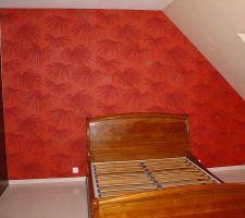 chambre parent papier peint