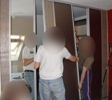 Chambre parent - séparation dressing -