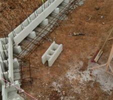 Maçonnerie : blocs titan, chaînages, agglos à bancher et ferraillage