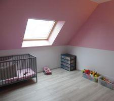 Chambre de notre n°3 en rose et blanc.