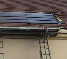 Nos panneaux photovoltaïques qui sont sur notre toiture côté jardin.