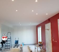 Ça prend forme avec la peinture et les les au plafond :)