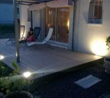 Terrasse en début de nuit