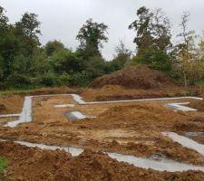 Les fondations sont faites, prochaine étape le vide sanitaire