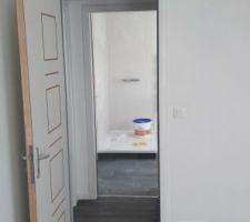 Détail de finition : Carrelage dans le cellier