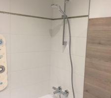 Mitigeur Thermostatique et douchette Hansgrohe pour la baignoire de la SDB du haut