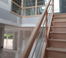 Voilà notre bel escalier...