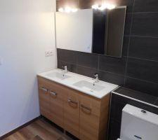 Meuble double vasque + Miroir
