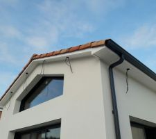 Futurs emplacement des spots extérieurs sur terrasse