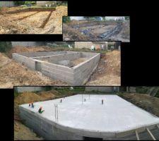 Terrassement Fondations Vide sanitaire Dalle béton