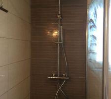 Après problème de fuite sur la douche! Nouvelle colonne de douche De marque hansa le top :)