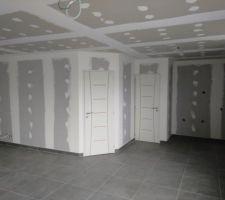 Mise en place des portes intérieures