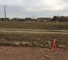 Petit aperçu de l'étude de sol réalisé le 8 novembre.